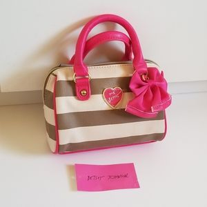 Betsey Johnson striped mini bag